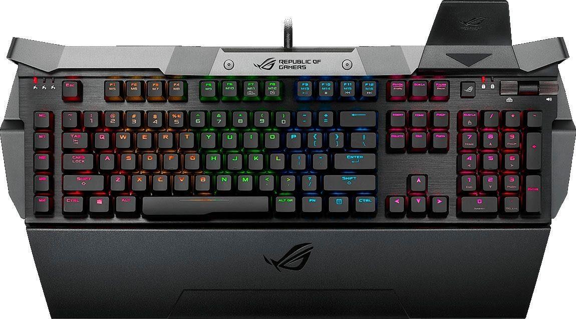 Asus »ROG GK2000 RGB Horus« Gaming-Tastatur (USB-Anschluss, Makrotasten, Ziffernblock)