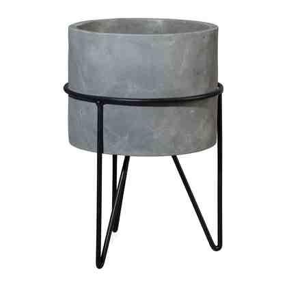 Cement Übertopf auf Eisengestell »NOMA« (2er Set)
