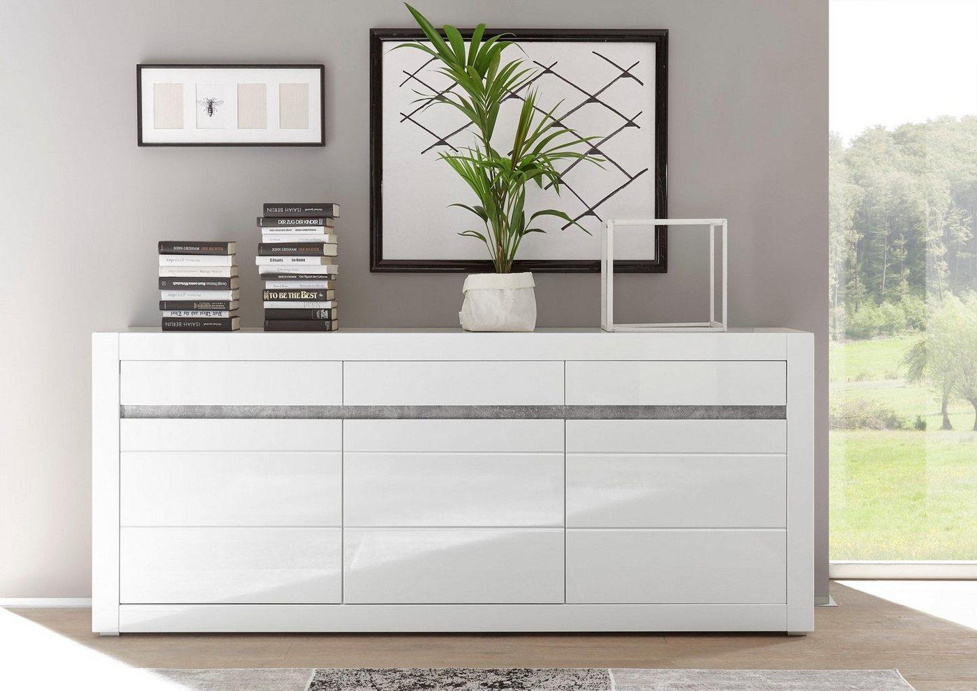 Sideboard Carat  Breite 217 cm weiß   04054574065114