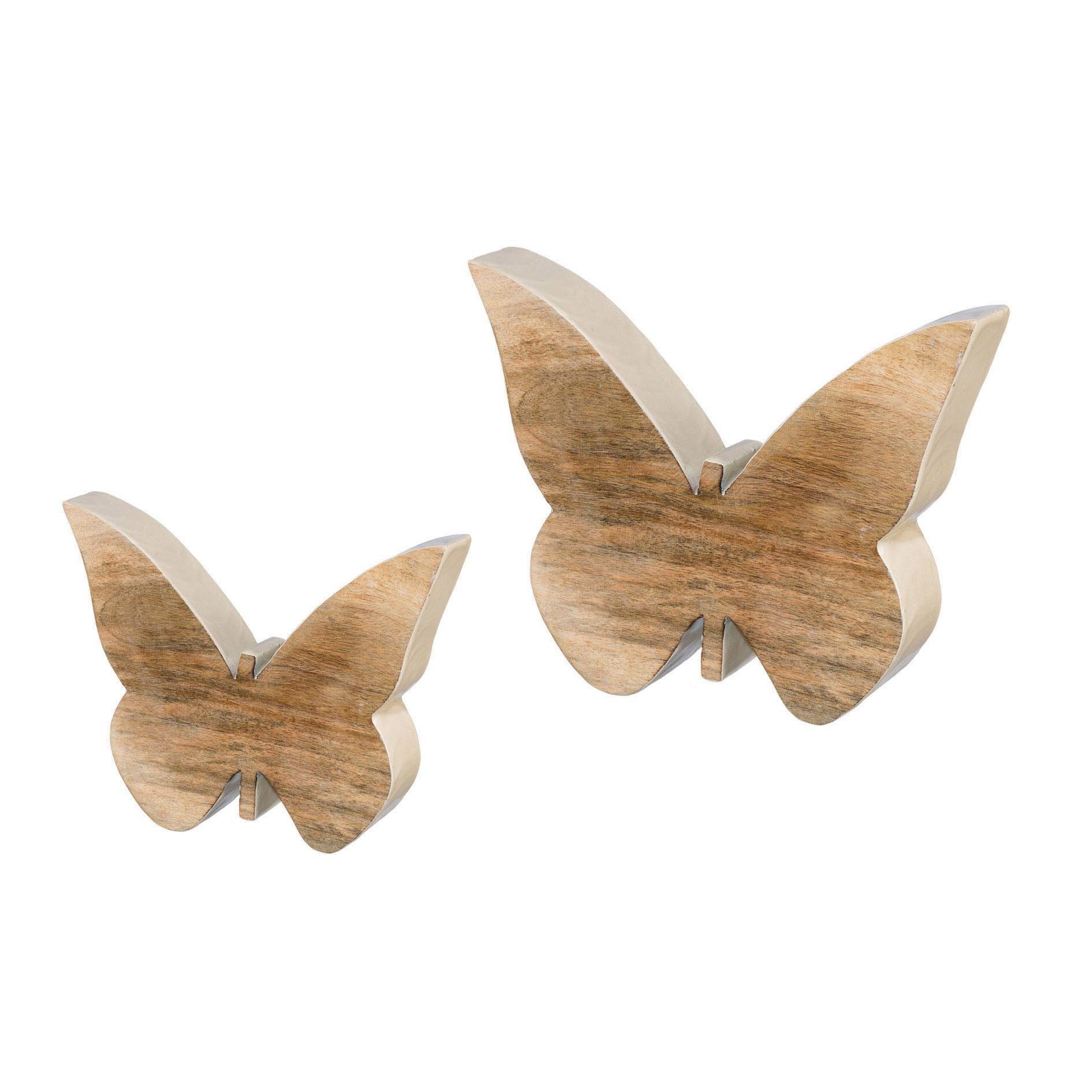 Holz Schmetterling stehend »ENAMEL« (2er Set)