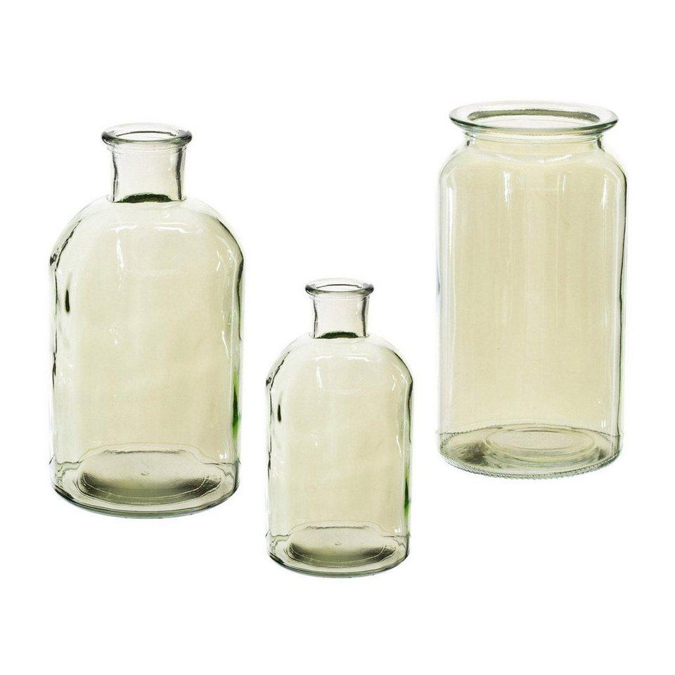 glas vase style luster gr n 3er set kaufen otto. Black Bedroom Furniture Sets. Home Design Ideas