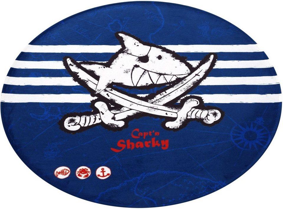 Kinderteppich Sh 313 Capt N Sharky Rund Hohe 6 Mm Stoff Druck Weiche Microfaser Online Kaufen Otto