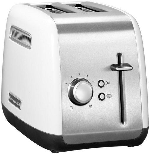 KitchenAid Toaster 5KMT2115EWH, 2 kurze Schlitze, für 2 Scheiben, 240 W