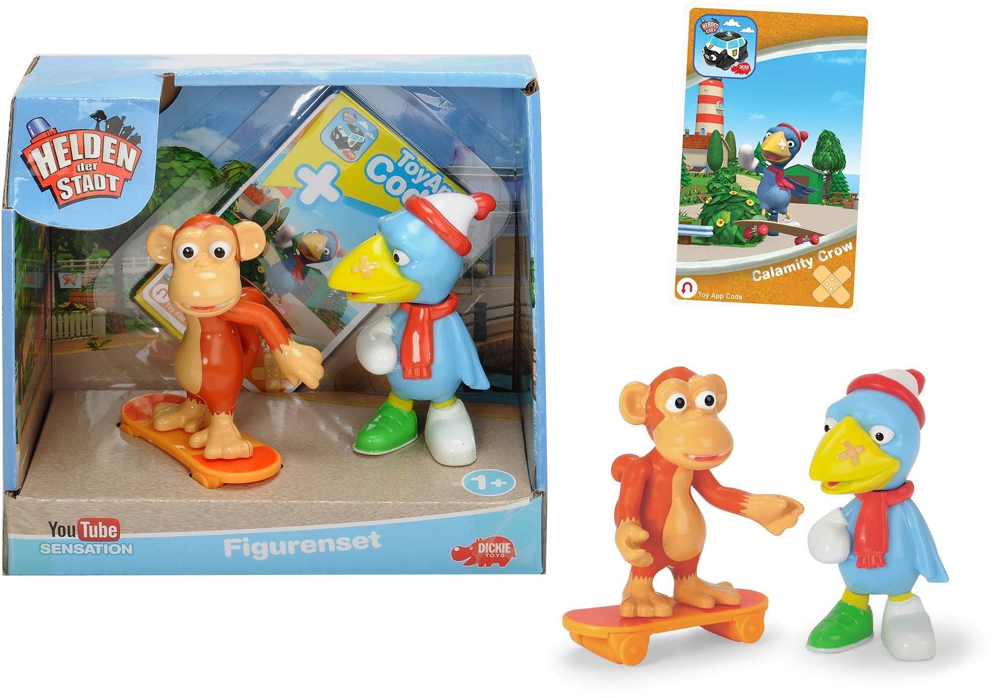 Dickie Toys Spielfiguren Set, 3-tlg., »Helden der Stadt, Kasimir Krähe und Anton der Affe«