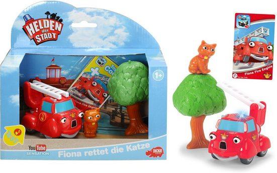 Dickie Toys Spielzeug-Feuerwehr »Helden der Stadt, Fiona rettet die Katze«, (Set)