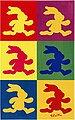 Kinderteppich »FE-411«, Felix der Hase, rechteckig, Höhe 6 mm, Stoff Druck, weiche Mircofaser, Bild 2