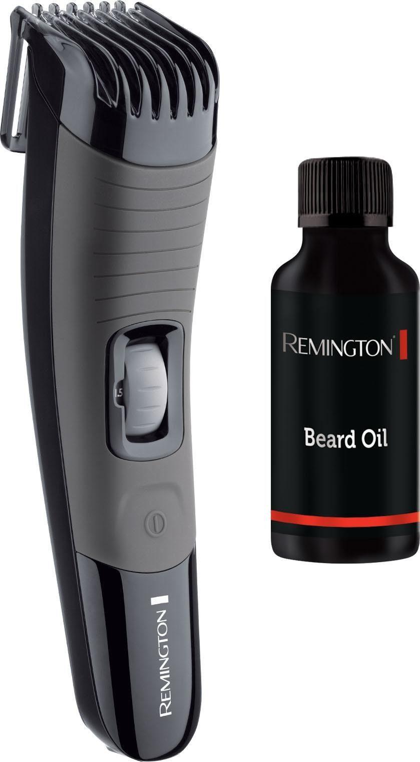 Remington Bartschneider Beard Boss Professional MB4137GP, Geschenkset mit Bartöl, mit 13 Längeneinstellungen