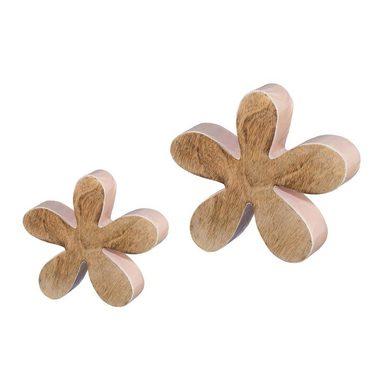Dekoobjekt »Blumen« (2 Stück), Holz
