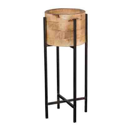 Holz Übertopf auf Metallgestell »PLANTER«