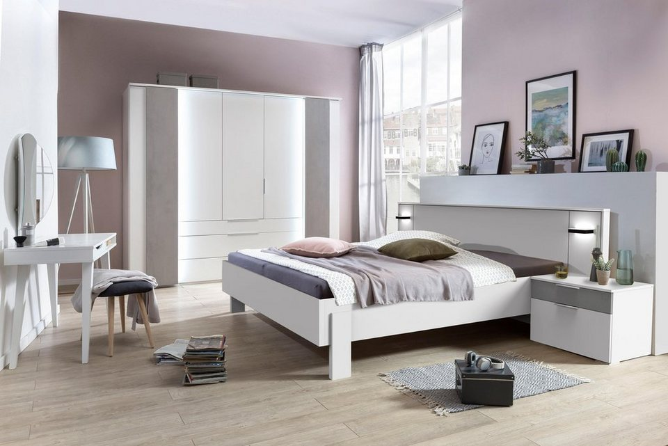 fresh to go bett chicago mit led beleuchtung otto. Black Bedroom Furniture Sets. Home Design Ideas