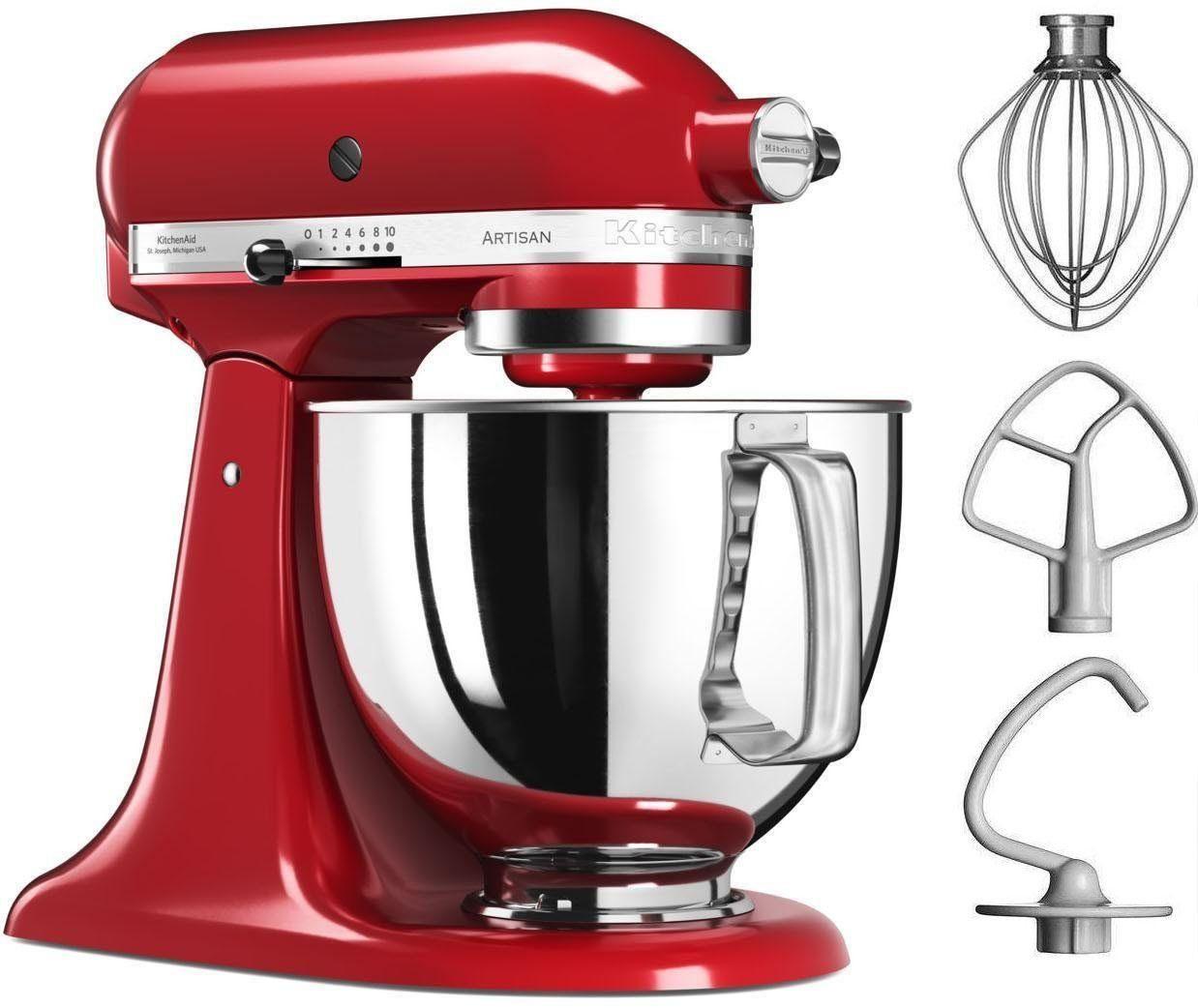 KitchenAid® Küchenmaschine Artisan 5KSM125EER, 4,8 Liter, 300 Watt, Empire Rot