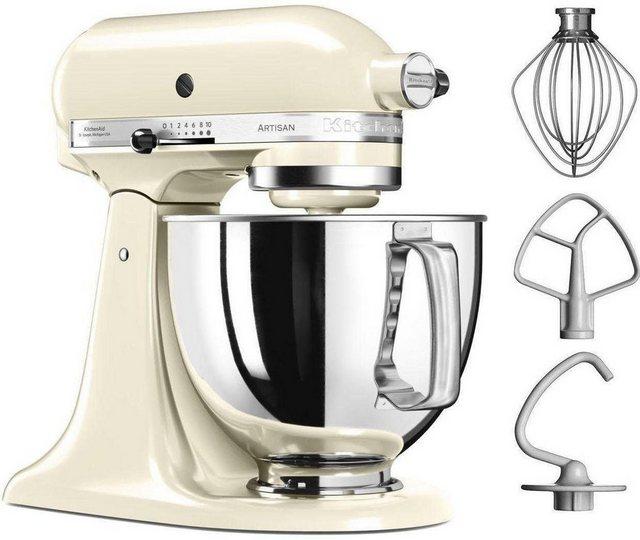KitchenAid Küchenmaschine Artisan 5KSM125EAC, 300 W, 4,8 l Schüssel, Farbe creme