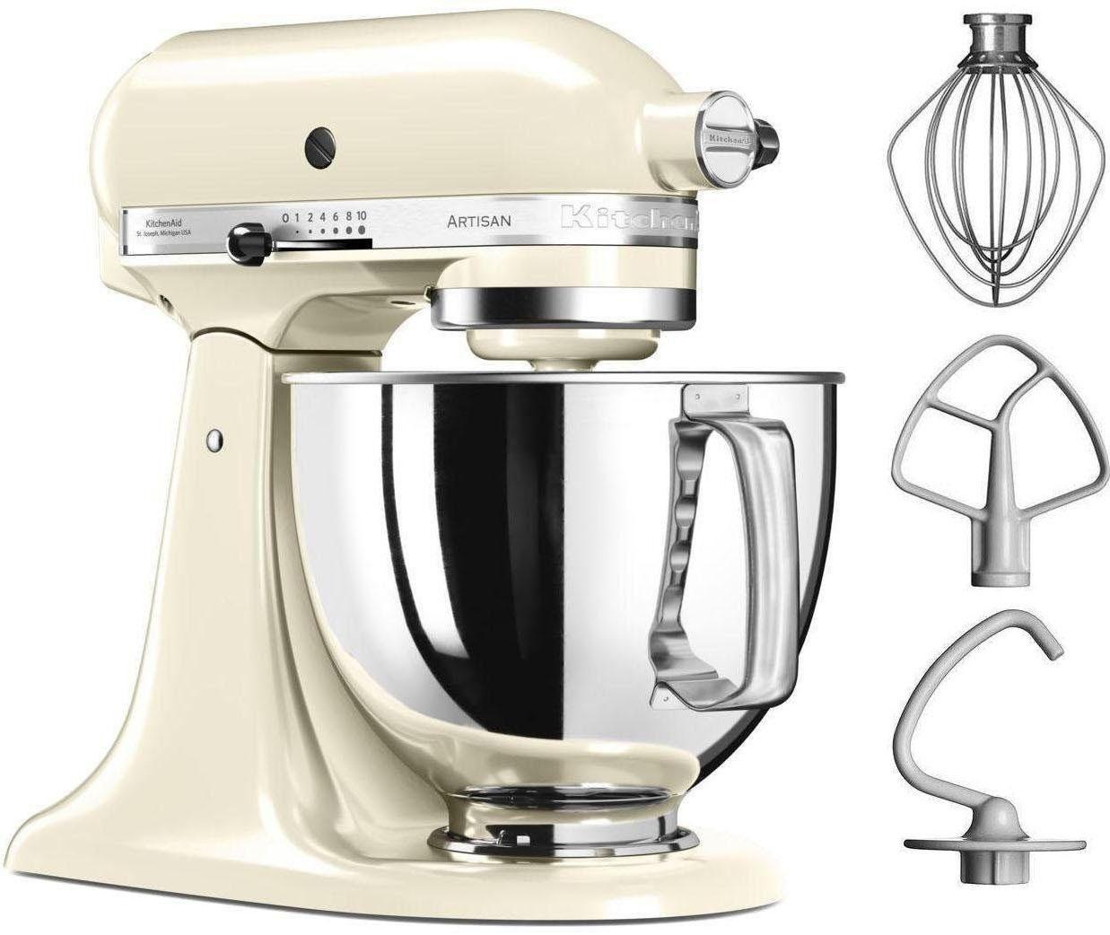 KitchenAid® Küchenmaschine Artisan 5KSM125EAC, 4,8 Liter, 300 Watt, creme