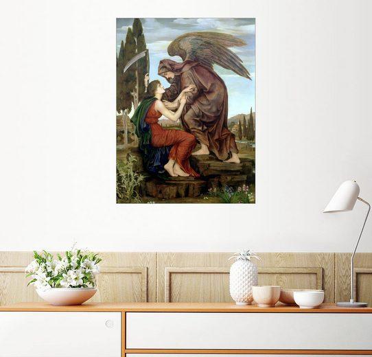 Posterlounge Wandbild - Evelyn De Morgan »Der Engel des Todes, 1890«