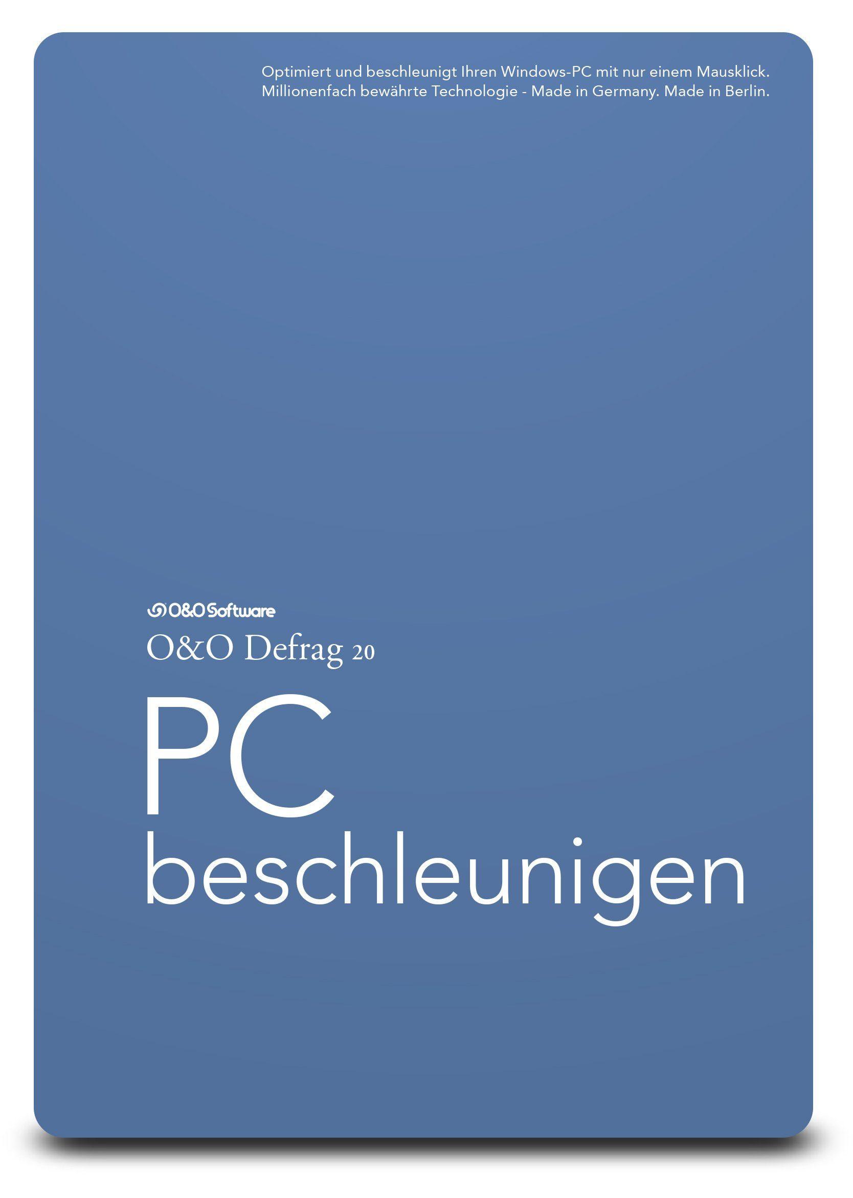 O&O Software Defragmentierungssoftware »Defrag 20 Professional Edition Box«