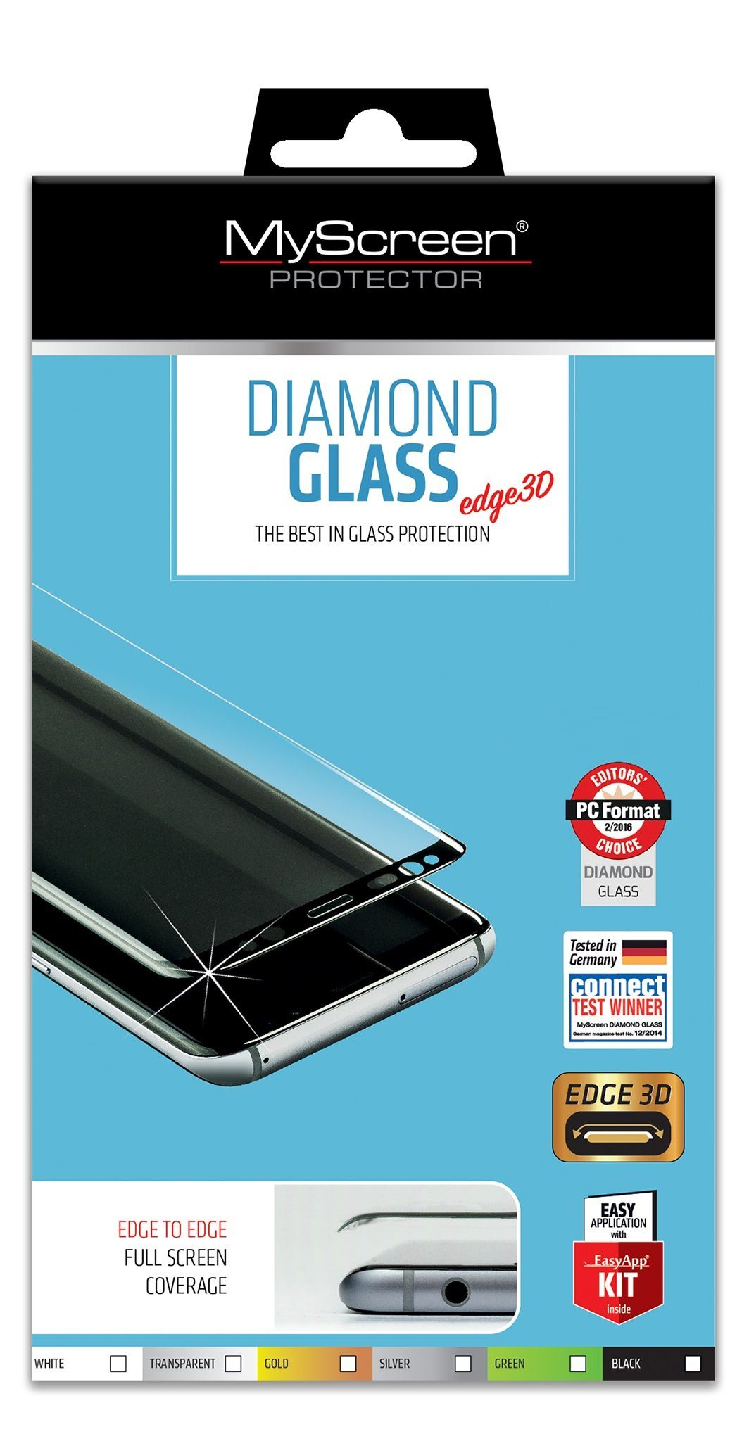 MYSCREEN Schutzglas »Diamond Glass Edge 3D iPhone X«