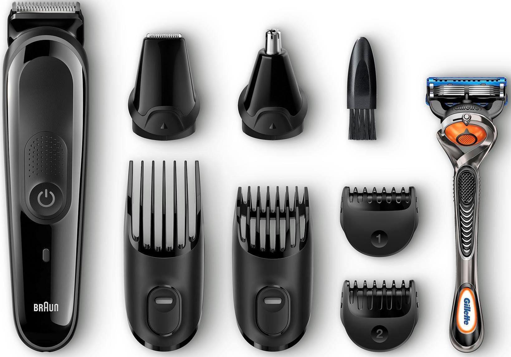 Braun Multigrooming-Set MGK3060, 8-In-1 Präzisionstrimmer für Bart- Und Haarstyling
