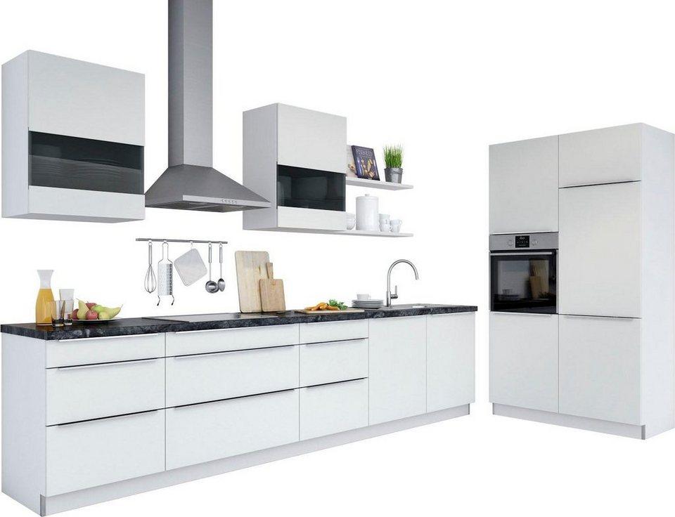Set one by musterring küchenzeile siena mit e geräten breite 330 cm