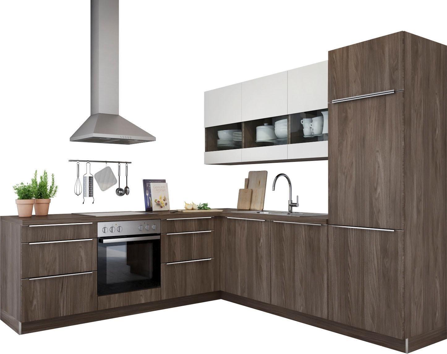 hochglanz-nussbaum Winkelküchen online kaufen | Möbel-Suchmaschine ...
