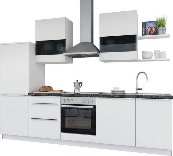 set one by Musterring Küchenzeile »Siena«, mit E-Geräten, Breite 290 cm, vormontiert