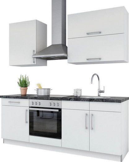 set one by Musterring Küchenzeile »Navaro«, mit E-Geräten, Breite 210 cm, vormontiert