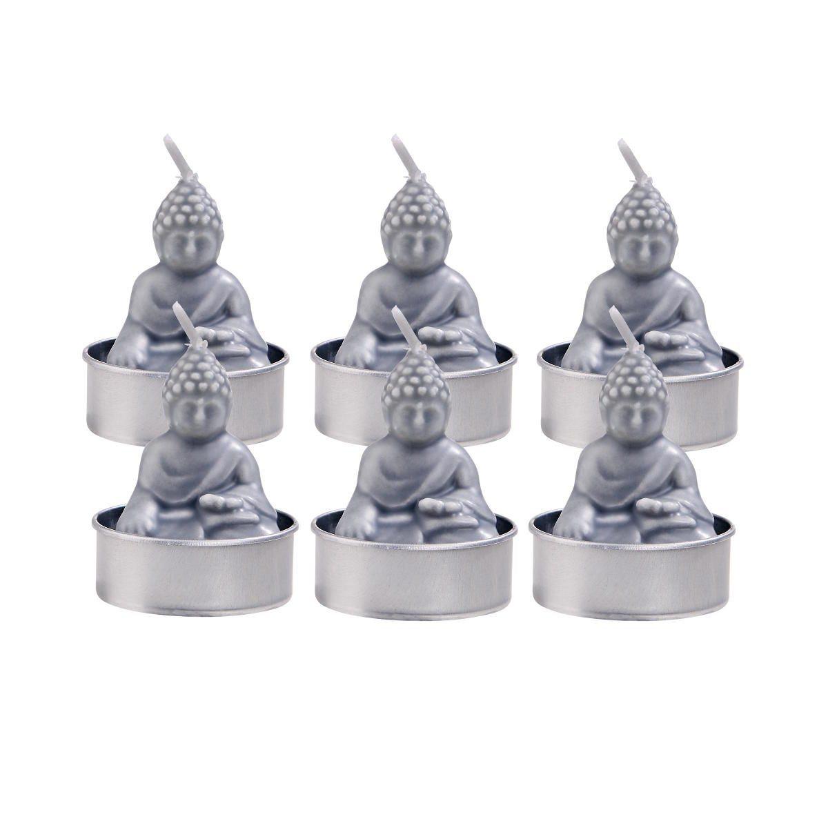 BUTLERS FLAMBEAU »Teelichte Buddha 6er-Set«   Dekoration > Kerzen und Kerzenständer > Teelichter   Grau   BUTLERS