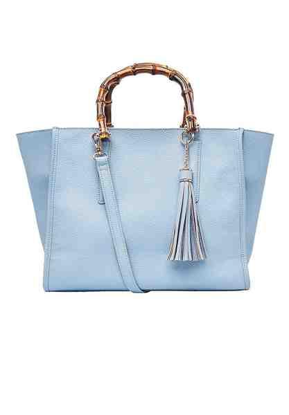 HALLHUBER Handtasche mit Bambushenkeln