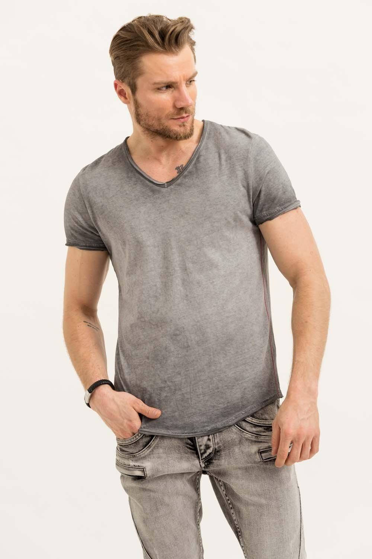 Herren trueprodigy T-Shirt Levi grau | 04057124033878