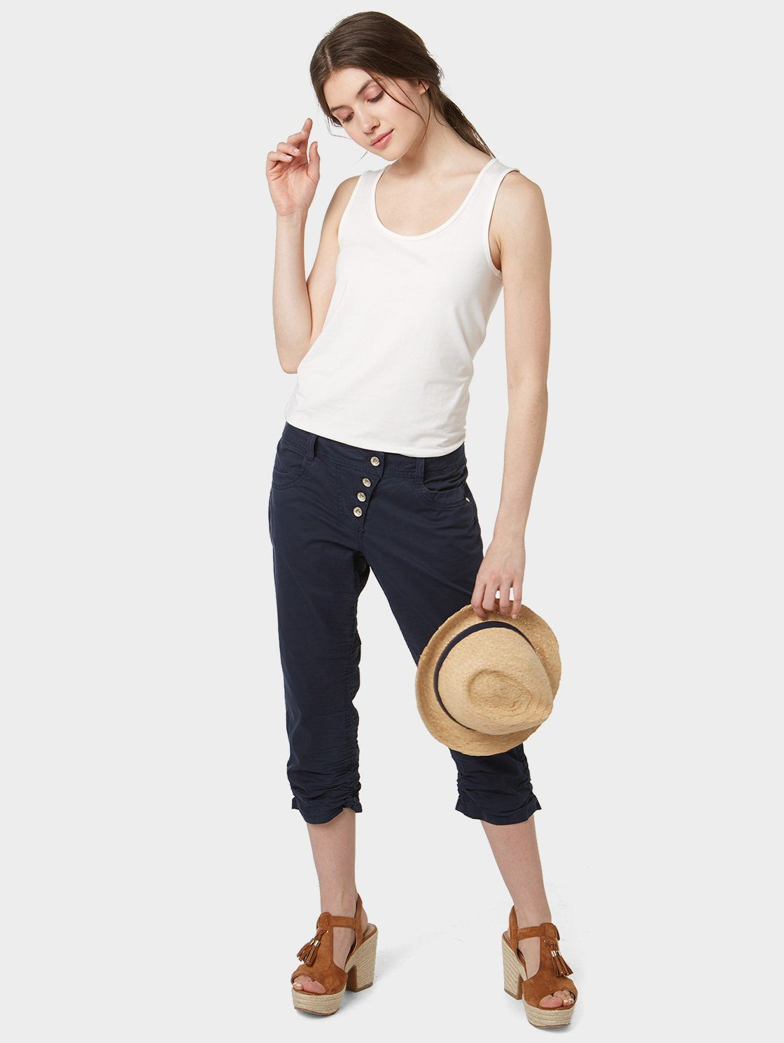 TOM TAILOR Caprihose »Tapered Relaxed in 3/4 Länge«
