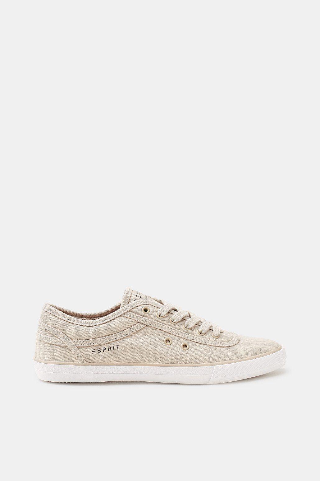 Esprit ESPRIT Zeitloser Canvas-Sneaker aus Baumwolle, weiß, WHITE