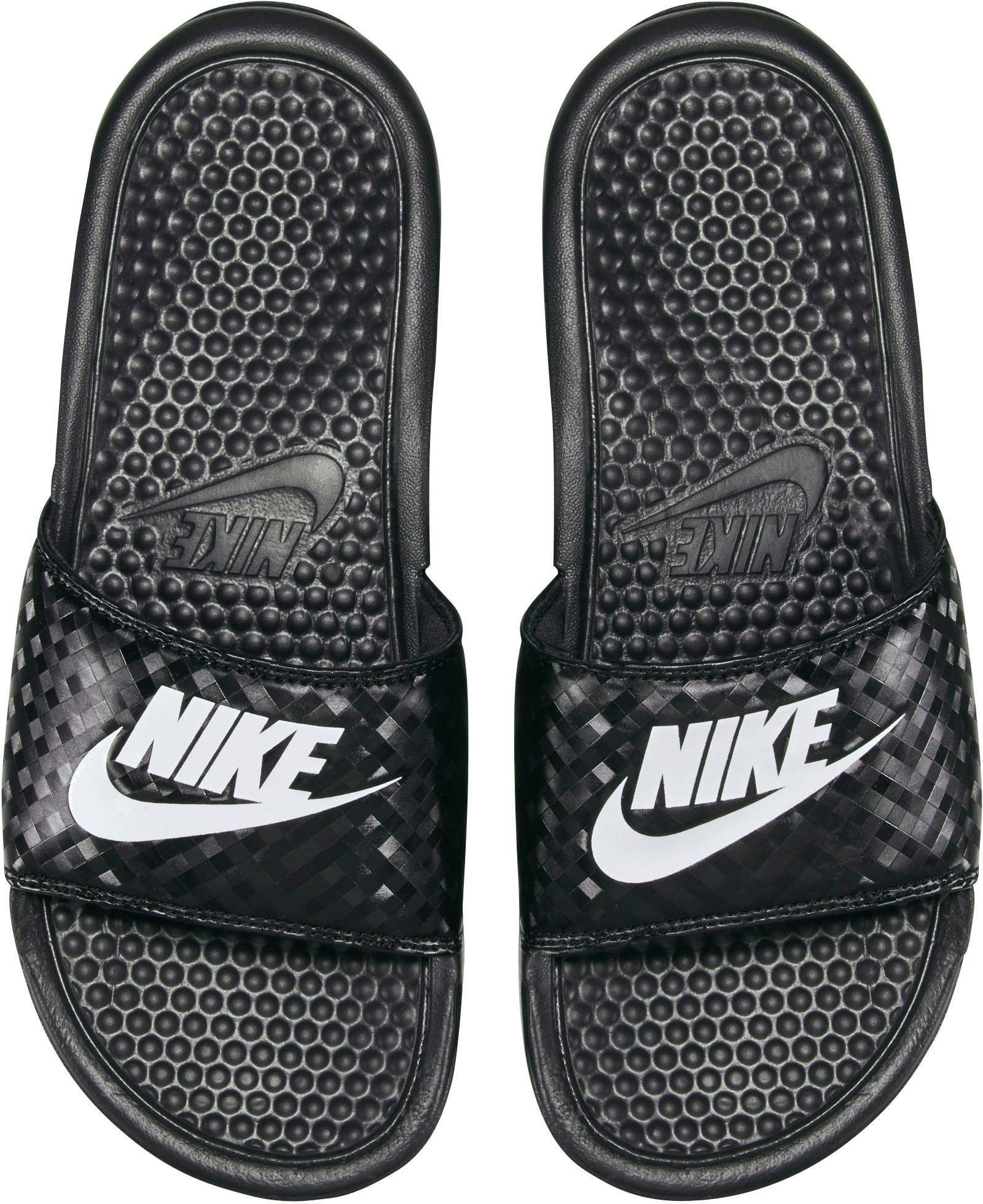 Nike Sportswear Wmns Benassi JDI Badesandale  schwarz-weiß
