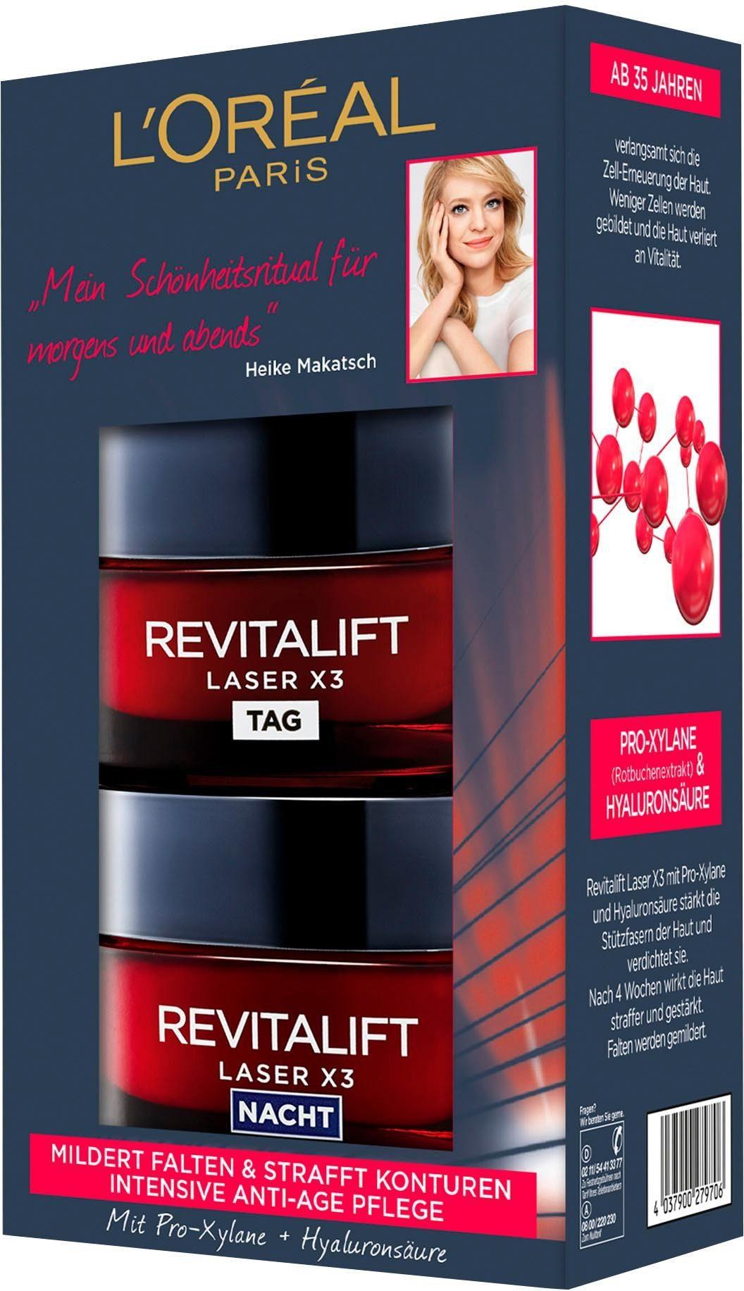 L'Oréal Paris, »RevitaLift Laser X3 Tag und Nacht«, Gesichtspflege-Set