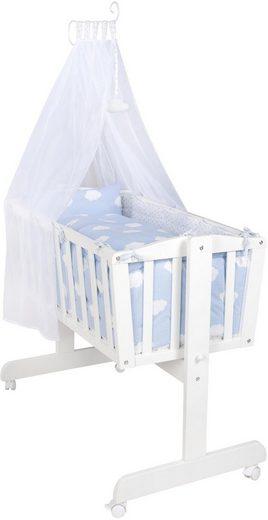 roba® Stubenbett »Komplettwiege, Kleine Wolke blau«, mit Komplettausstattung