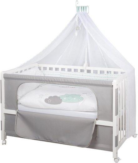 Roba® Babybett »Room Bed - Dekor Happy Cloud«, als Beistell-, Kinder- und Juniorbett verwendbar