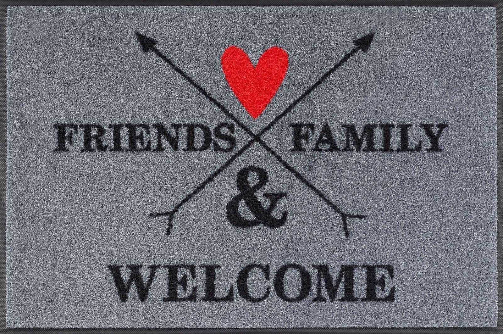 Fußmatte »Family&Friends«, wash+dry by Kleen-Tex, rechteckig, Höhe 7 mm