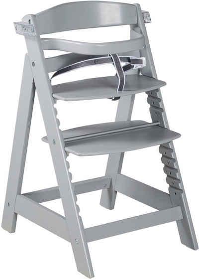 roba® Hochstuhl »Treppenhochstuhl Sit Up Click & Fun, taupe«, aus Holz