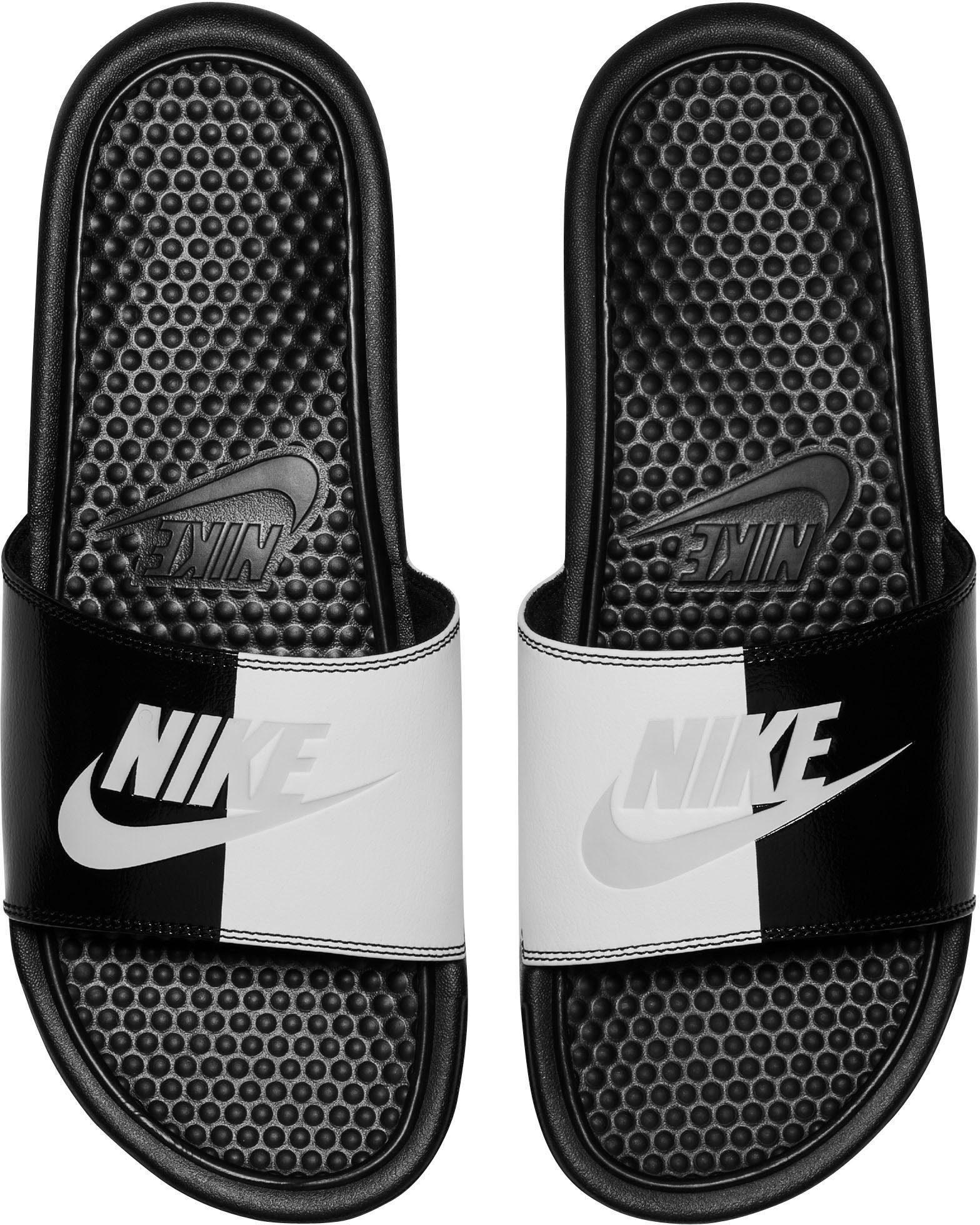 Nike Sportswear Benassi Just do it Badesandale  schwarz-silberfarben