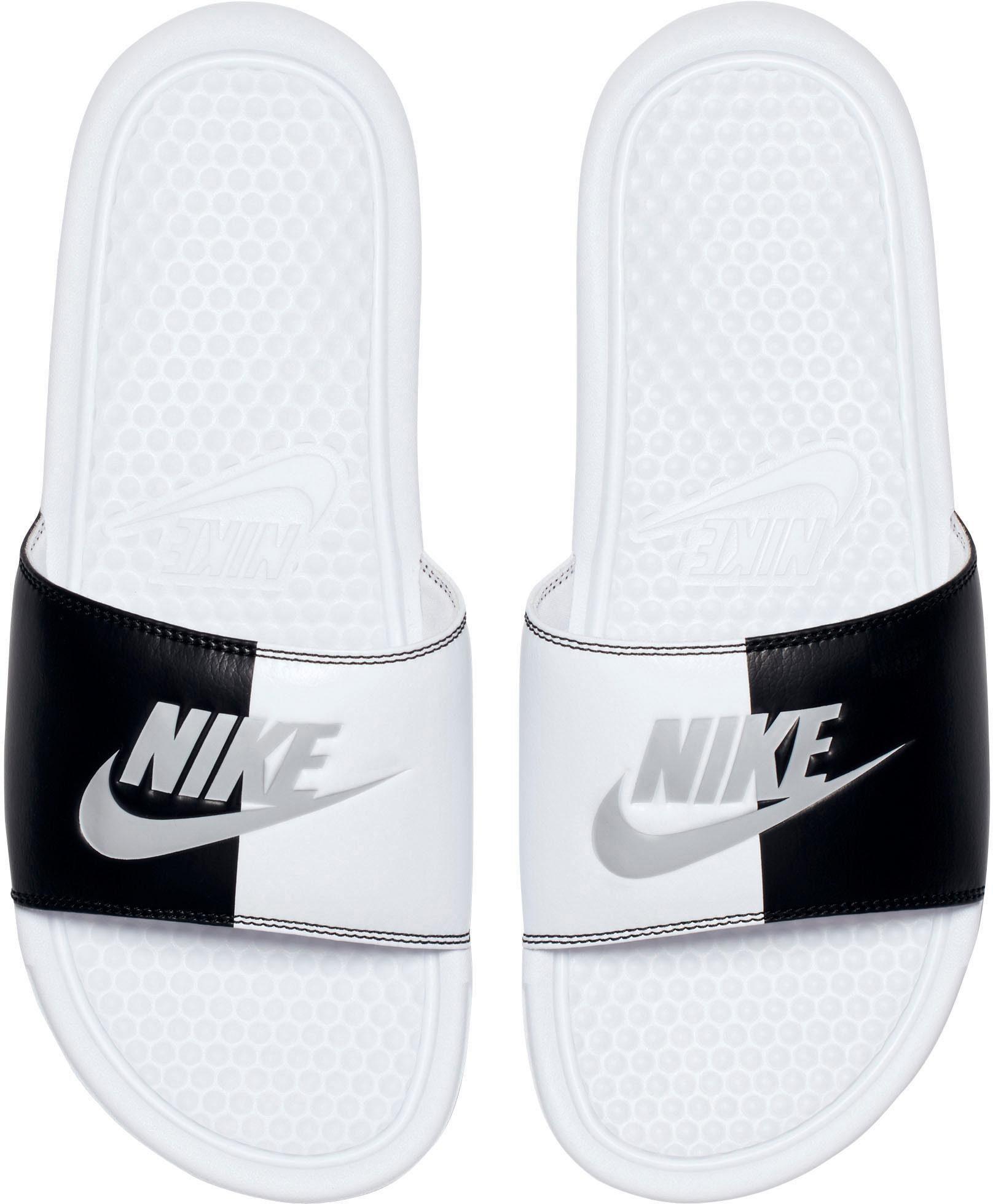 Nike Sportswear Wmns Benassi JDI Badesandale  weiß-schwarz