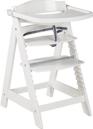 Roba® Hochstuhl »Treppenhochstuhl Sit Up Click & Fun, weiß« aus Holz