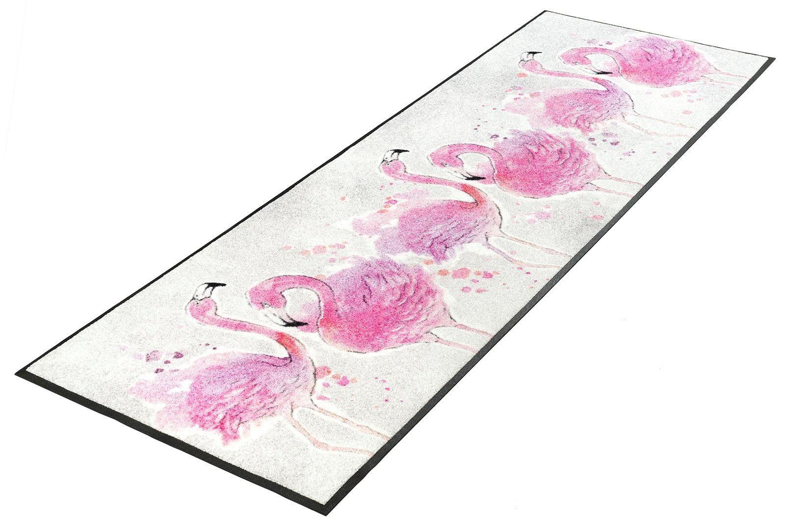 Läufer »Flamingo«, wash+dry by Kleen-Tex, rechteckig, Höhe 7 mm