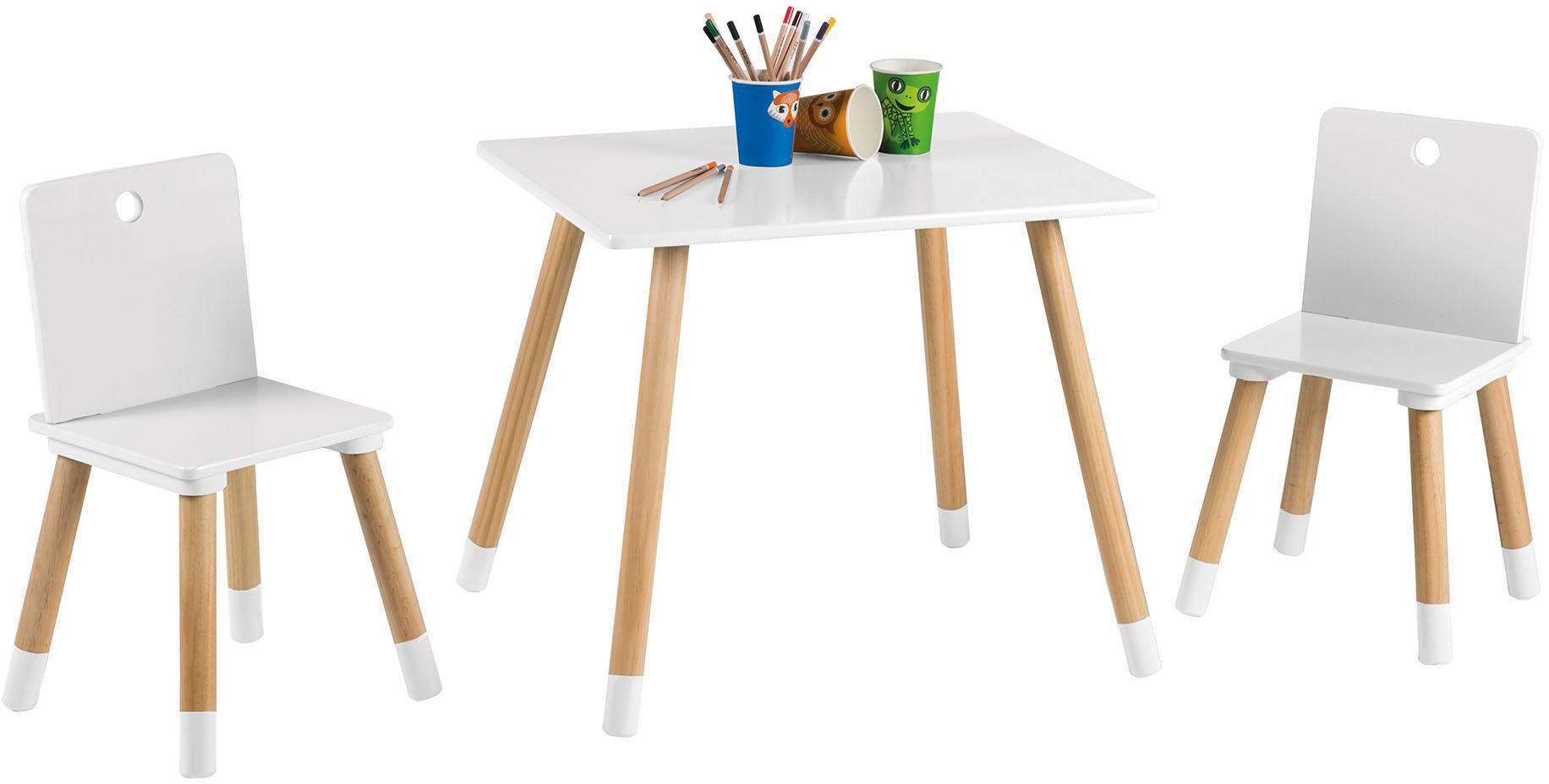 Roba Tisch und Stühle für Kinder, »Kindersitzgruppe, weiß«