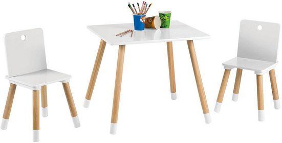Roba® Kindersitzgruppe »Kindersitzgruppe, weiß«, (3-tlg)