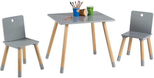 Sitzmöbel - roba® Kindersitzgruppe »Kindersitzgruppe, grau«, (3 tlg)  - Onlineshop OTTO