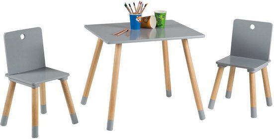 Roba® Kindersitzgruppe »Kindersitzgruppe, grau«, (3-tlg)
