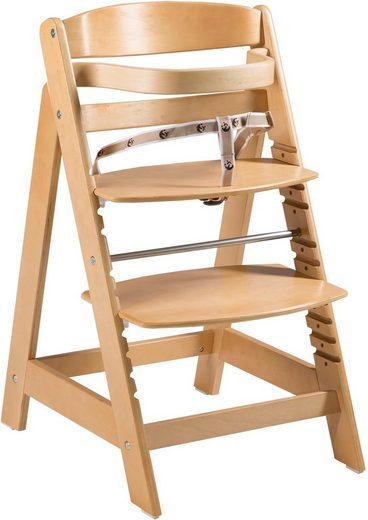 Roba® Hochstuhl »Treppenhochstuhl Sit Up Click, natur« aus Holz