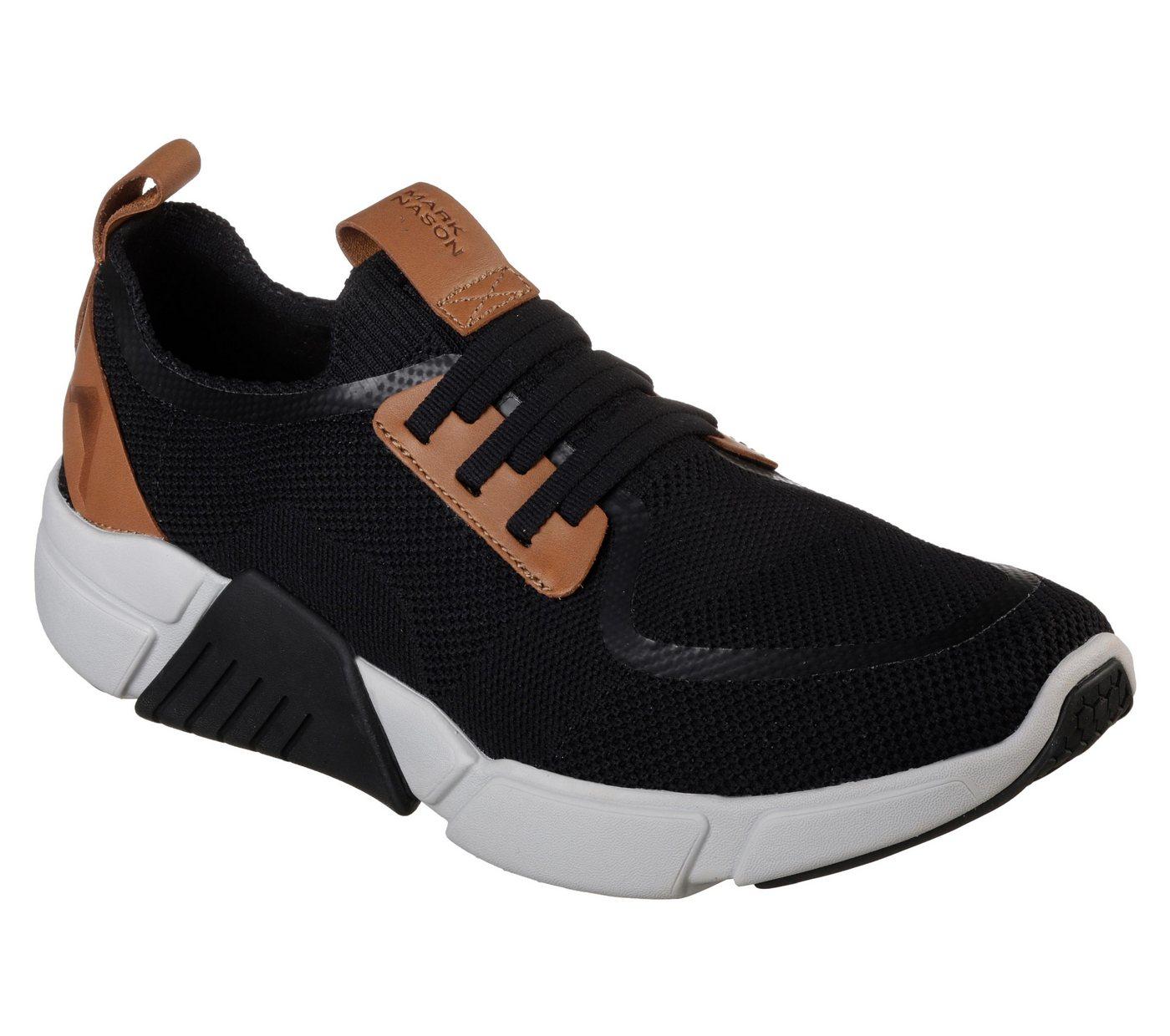 Herren Skechers Block-Peak Sneaker mit Sockfit zum Schlupfen schwarz | 00192283287985