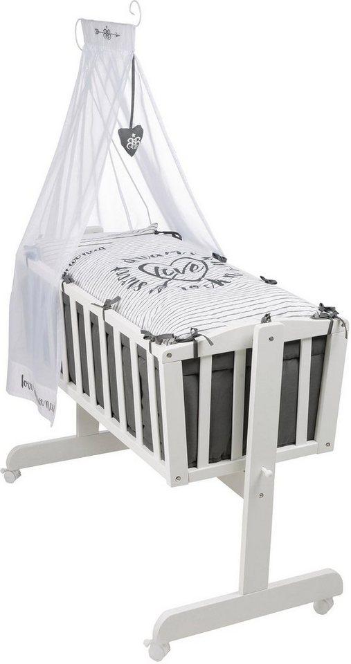 roba wiege mit komplettausstattung komplettwiege rock star baby 3 online kaufen otto. Black Bedroom Furniture Sets. Home Design Ideas