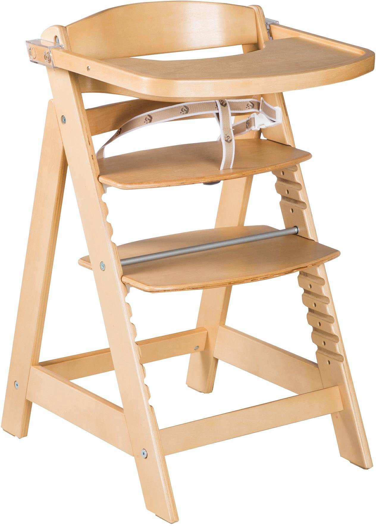 Roba Hochstuhl aus Holz, »Treppenhochstuhl Sit Up Click & Fun, natur« | Kinderzimmer > Kinderzimmerstühle > Hochstühle | Holz | Roba®