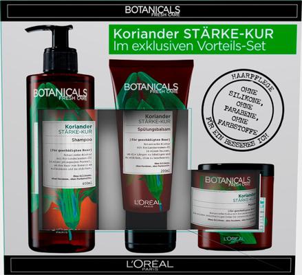 BOTANICALS Haarpflege-Set »Koriander Stärke-Kur«, 3-tlg.