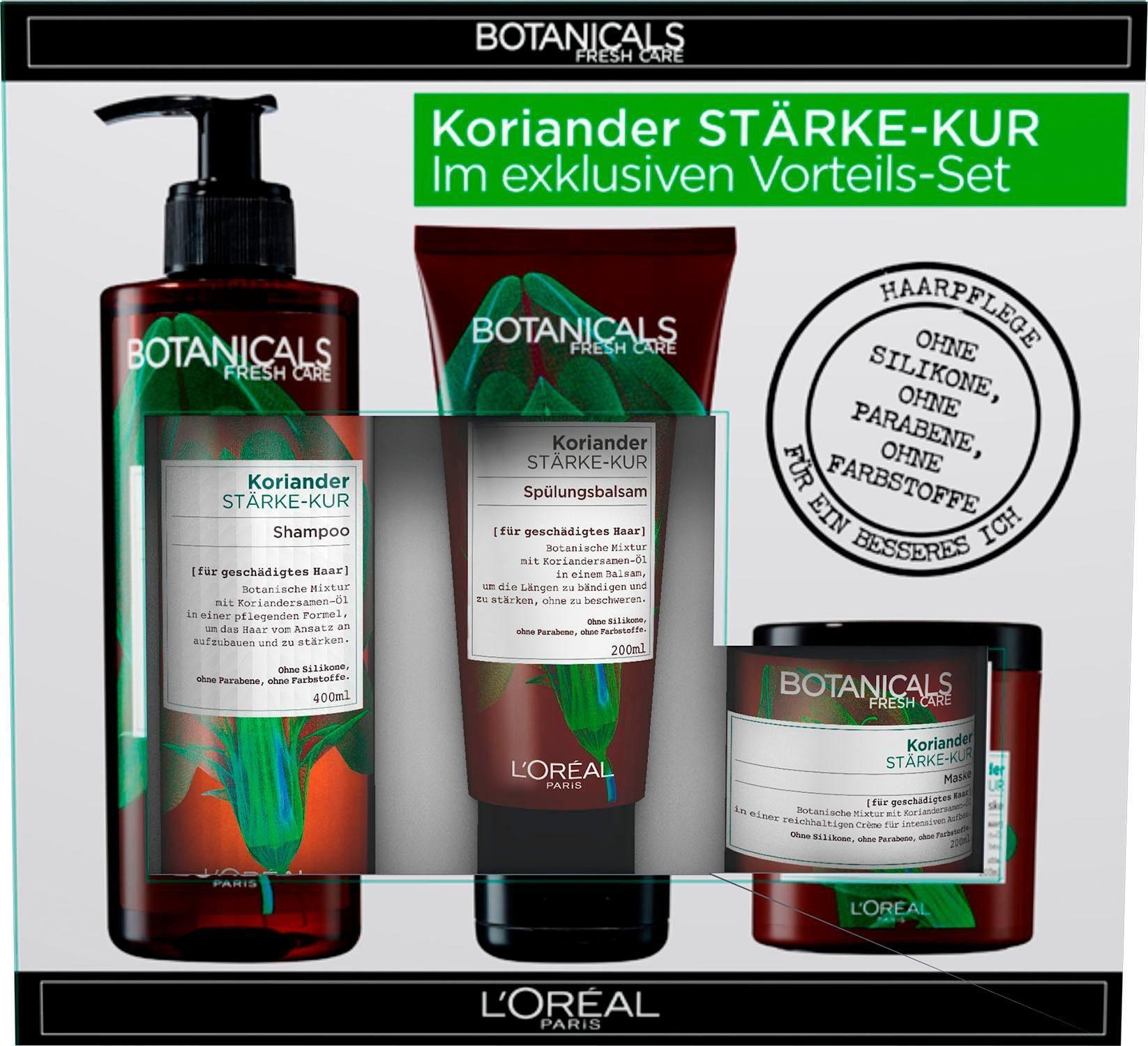 BOTANICALS, »Koriander Stärke-Kur Vorteils-Set«, Haarpflege